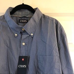 Chaps Long Sleeve Button Down Men's Shirt NWT